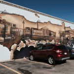Pasrt and present: Beverly Gas & Tires mural